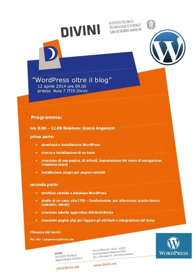 Work Shop WordPress