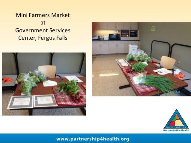 Mini Farmers Market at Government Services Center, Fergus Falls