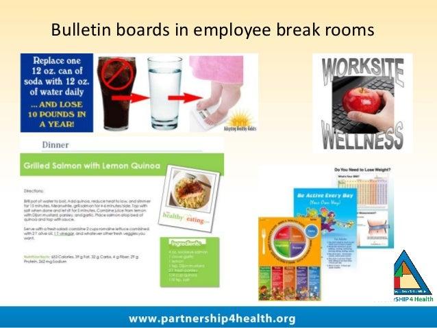 Bulletin boards in employee break rooms