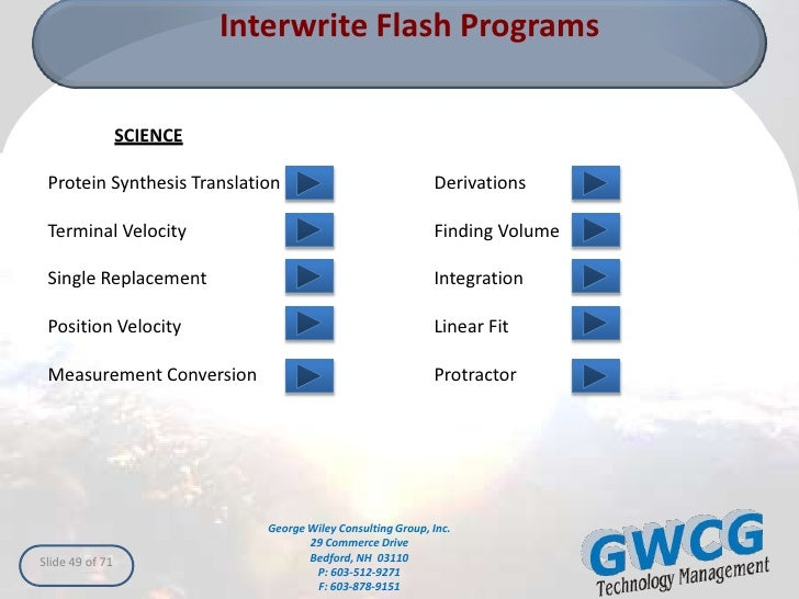Interwrite 5 - Localization for Touch Hd