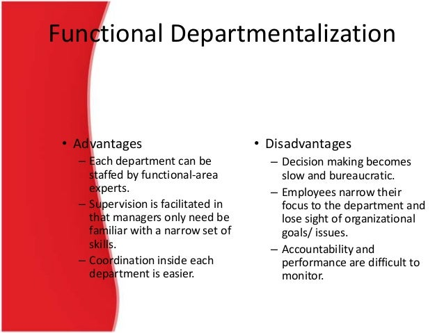 functional organizational structure advantages and disadvantages pdf