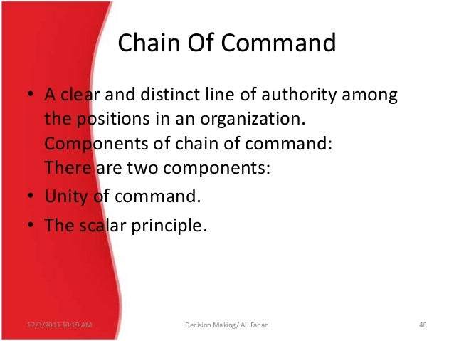 advantages and disadvantage s unity of command Get an answer for 'what are the advantages of line and staff in an organization' and find homework help for other business questions at enotes  unity of command.