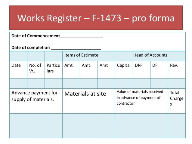 Works register in Indian Railways