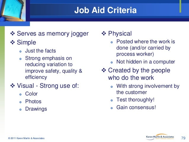 job aids template - job aid criteria serves