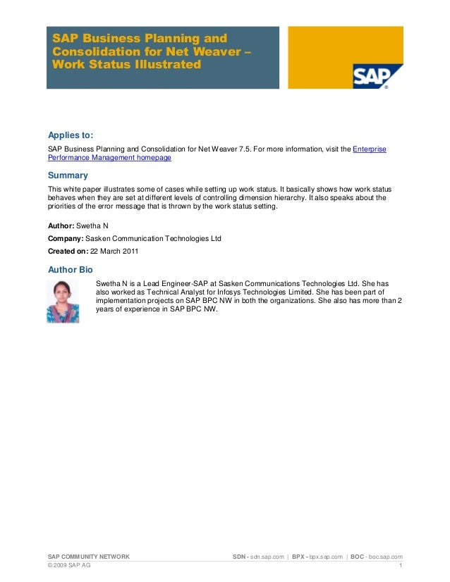 Pdf and implementing consolidation business sap planning