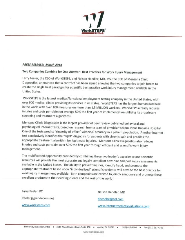 Work steps mcd press release about new tests for fraud detection