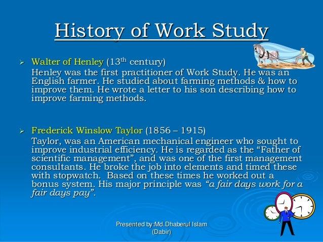 Work study presentation