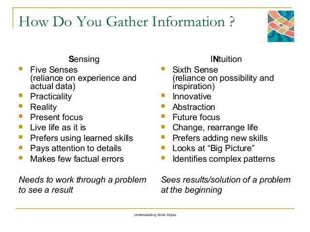 Sensing vs intuition test