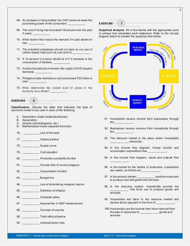 Economic Analysis Worktext