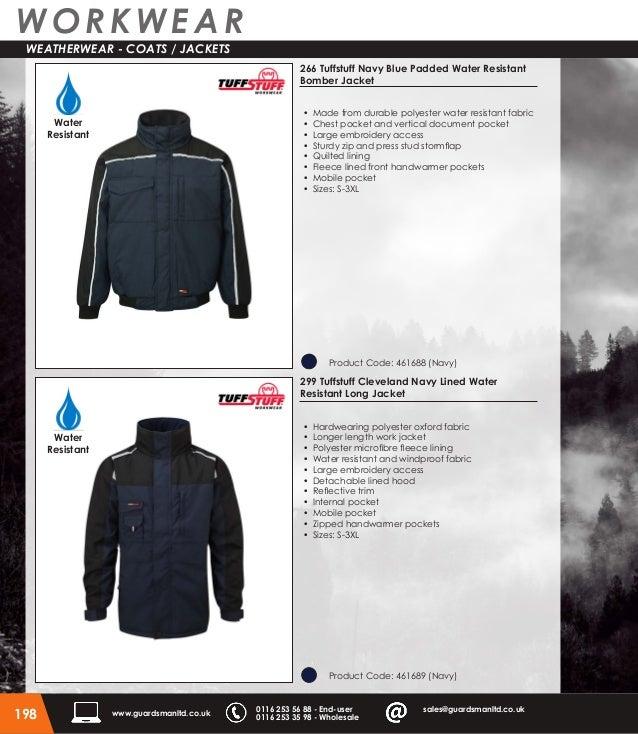 Tuff Stuff Men/'s Gents Buckland Work Hardwearing Water Resistant  Coat Jacket