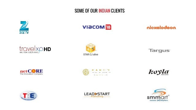 SOME OF OUR INDIAN CLIENTS