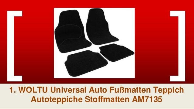 WOLTU Universal Auto Fu/ßmatten Teppich Stickerei Butterfly Lila//Schwarz AM7140