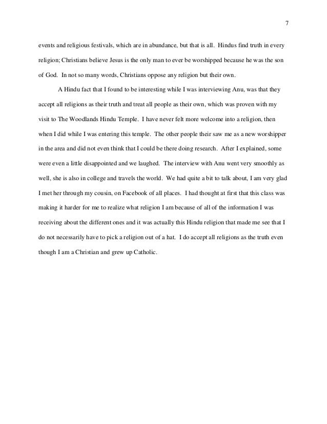 World Religions Report Hinduism Final - World religions explained
