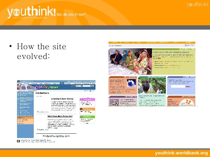 <ul><li>How the site evolved: </li></ul>