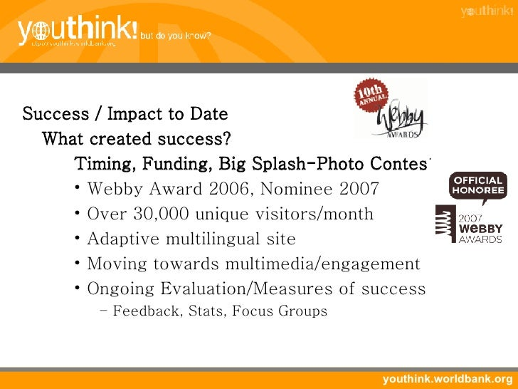 <ul><li>Success / Impact to Date </li></ul><ul><li>What created success? </li></ul><ul><li>Timing, Funding, Big Splash-Pho...