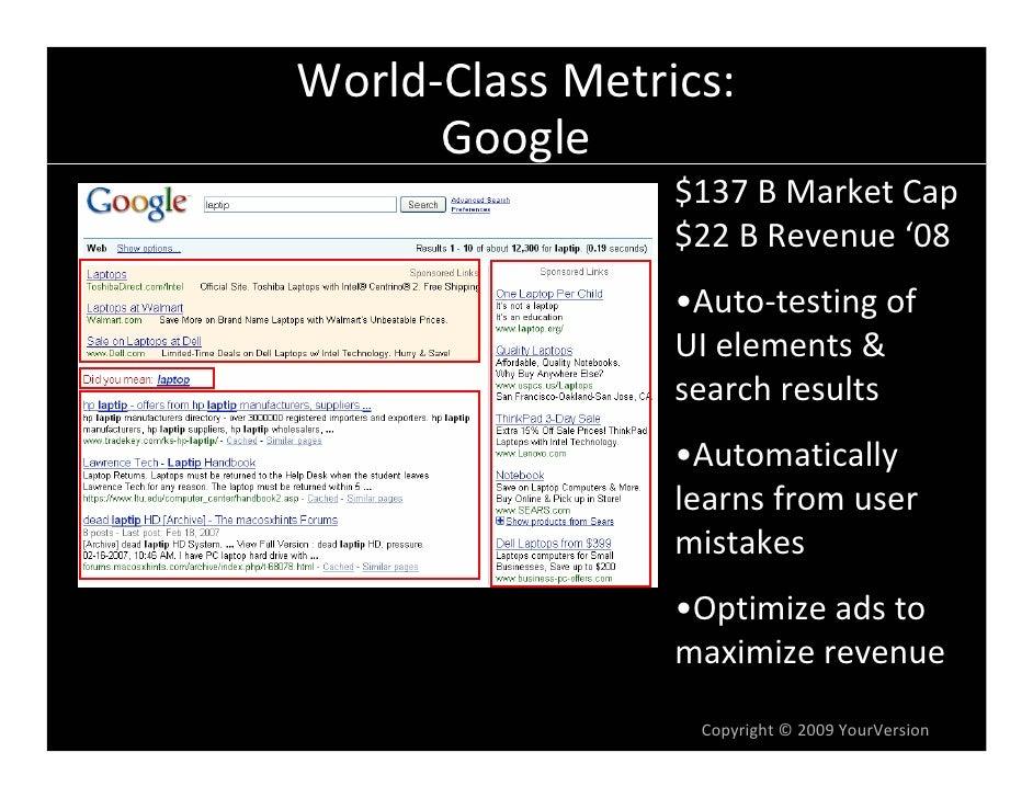 World-Class Web Metrics by Dan Olsen Slide 3