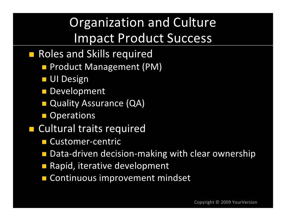 OrganizationandCulture       ImpactProductSuccess RolesandSkillsrequired   ProductManagement(PM)   UIDesign   De...