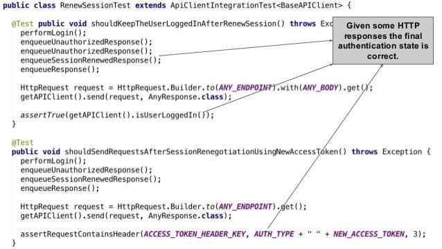 Pedro V. Gómez Sánchez - pedro@karumi.com - @pedro_g_s - github.com/pedrovgs Given some HTTP responses the final authentic...