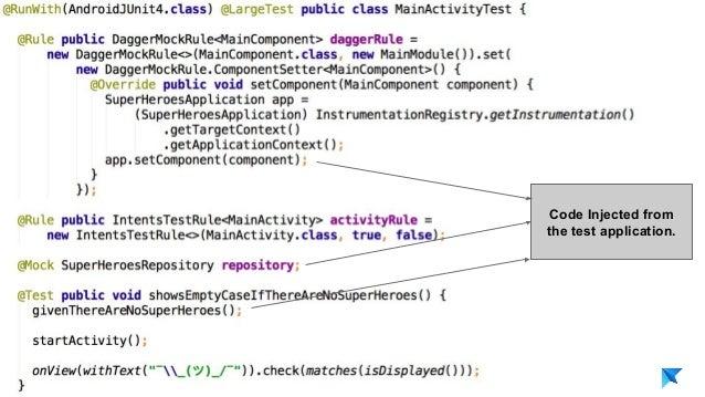 Pedro V. Gómez Sánchez - pedro@karumi.com - @pedro_g_s - github.com/pedrovgs Code Injected from the test application.