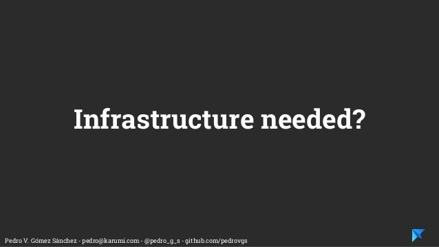 Pedro V. Gómez Sánchez - pedro@karumi.com - @pedro_g_s - github.com/pedrovgs Infrastructure needed?