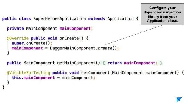 Pedro V. Gómez Sánchez - pedro@karumi.com - @pedro_g_s - github.com/pedrovgs Configure your dependency injection library f...