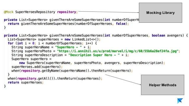 Pedro V. Gómez Sánchez - pedro@karumi.com - @pedro_g_s - github.com/pedrovgs Mocking Library Helper Methods