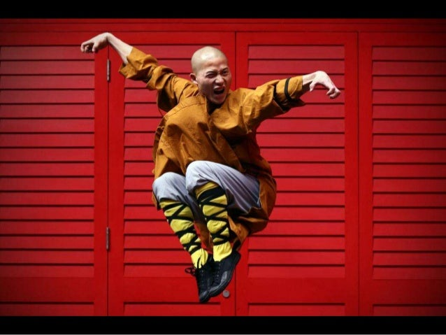 Shaolin monks pose for a photograph in Chinatown on February 23, 2015 in London, England. The monks practice Shaolin Kung ...