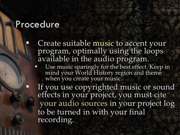 how to cite a radio show