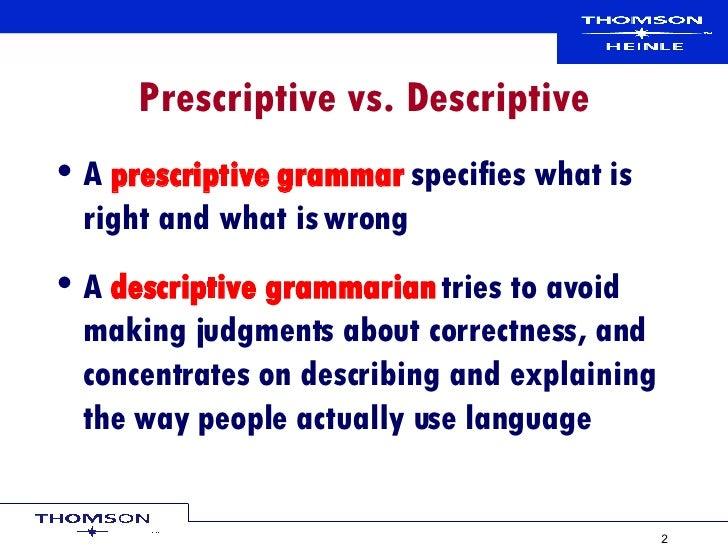 prescriptive