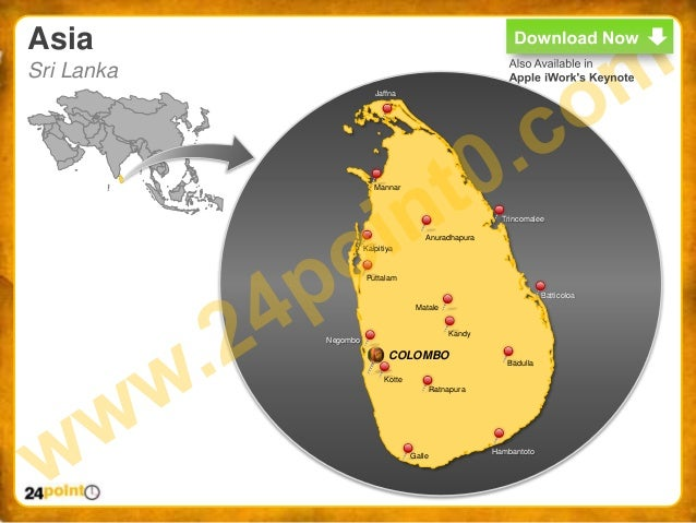 World map ppt easy to edit powerpoint world map asia sri lanka gumiabroncs Images