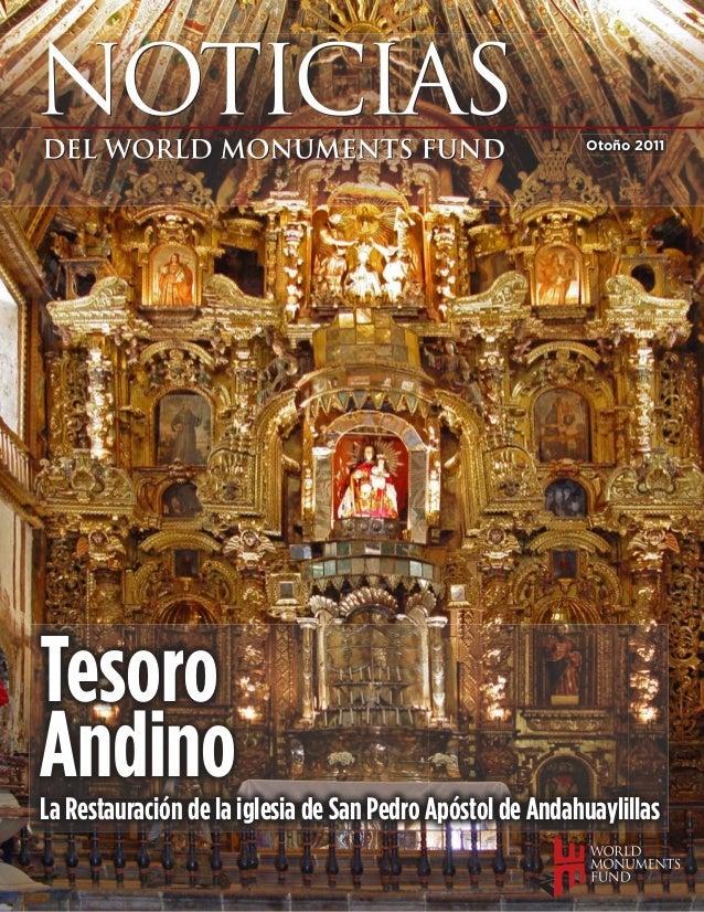 Otoño 2011TesoroAndinoLa Restauración de la iglesia de San Pedro Apóstol de Andahuaylillas