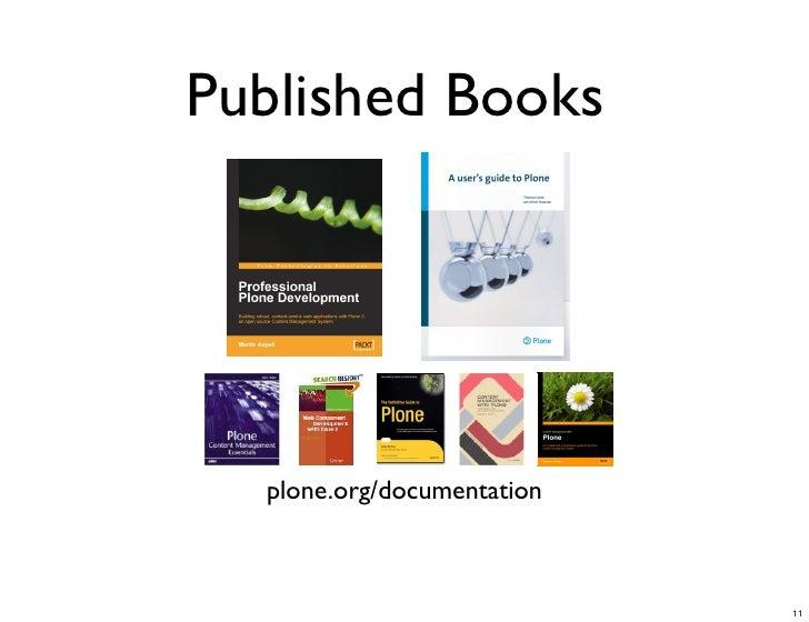 Published Books       plone.org/documentation                                11