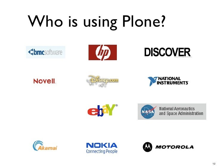 Who is using Plone? #3                              12
