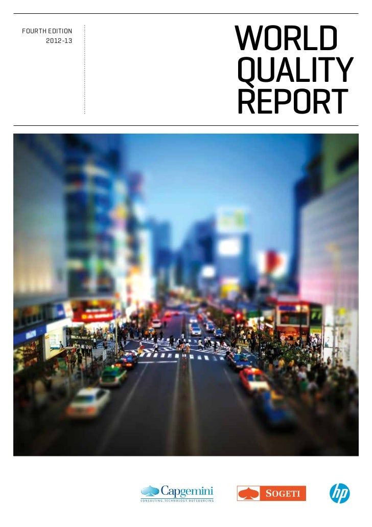 fourth EdItIon      2012-13                 world                 QualiTy                 reporT