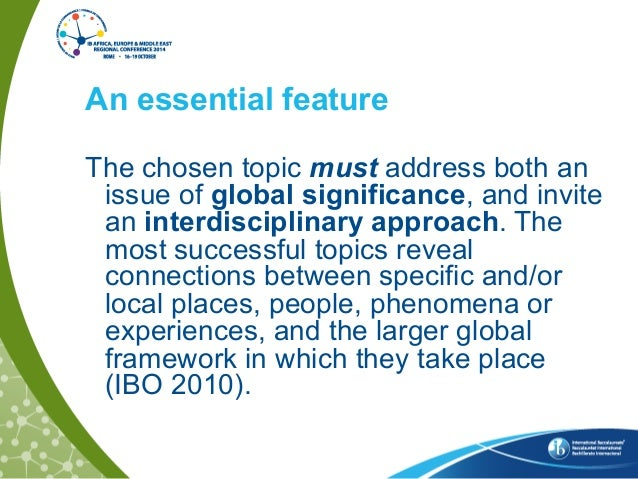 world studies extended essay  2 an essential feature the chosen