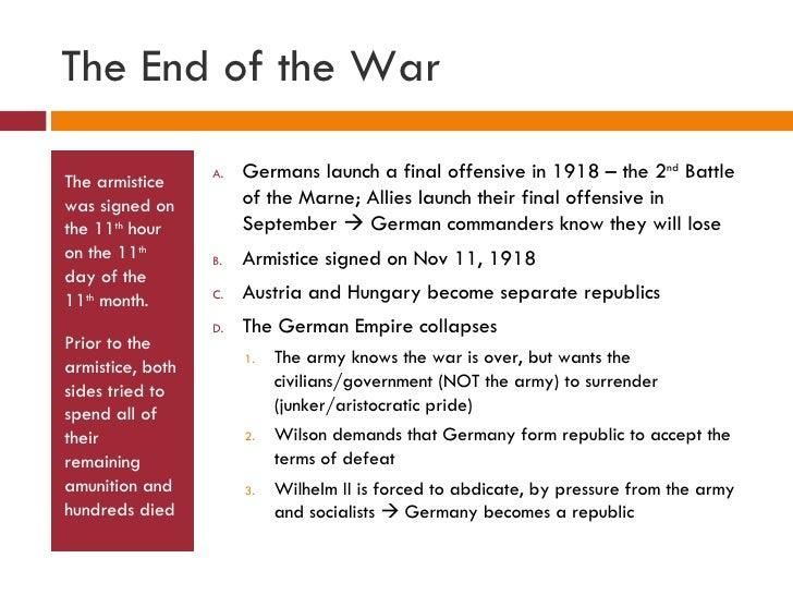 End of world war 2 summary