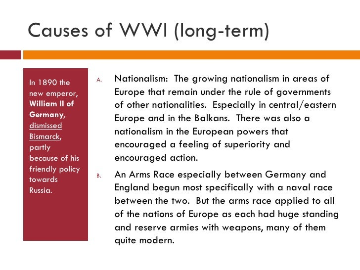 an analysis of causes of wwi the militarianism in the glorification of armed strength