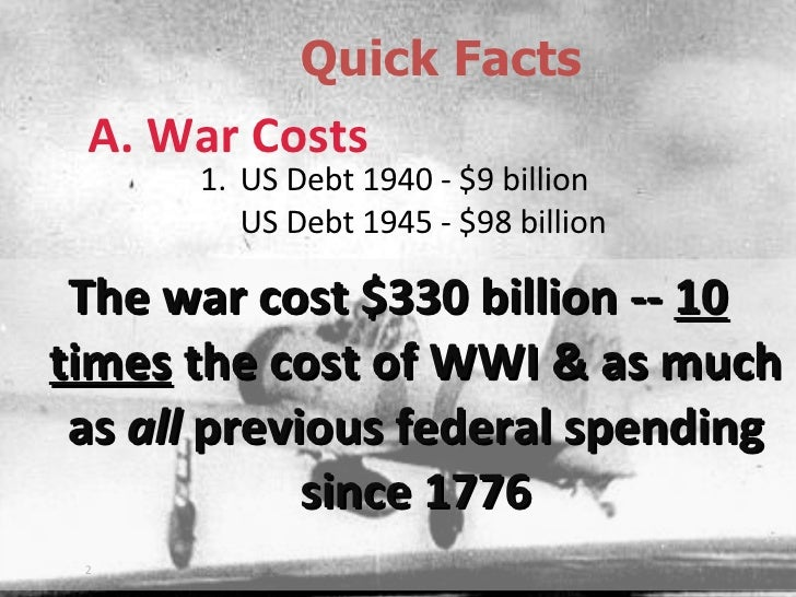 facts wwii Introduction world war ii was the largest and most violent armed conflict in the history of mankind however, the half century that now separates us from that.