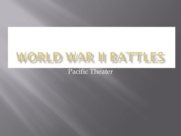 Pacific Theater