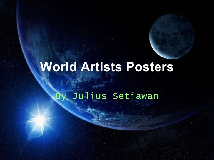World Artists Posters By Julius Setiawan
