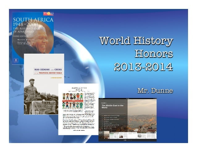 World History Honors! 2013-2014 Mr. Dunne