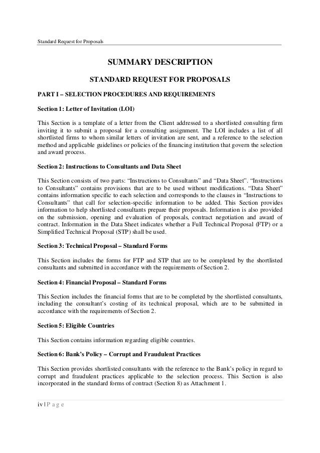 World Bank Consultants Wb Srfp Oct2011 V1