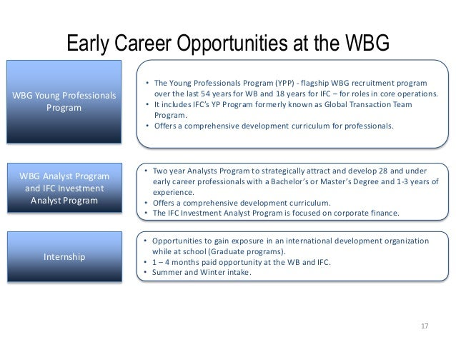 Presentation by World Bank Group