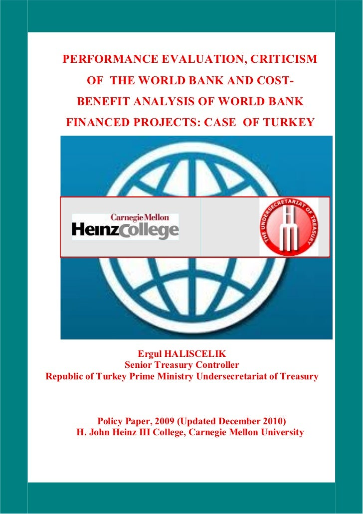 i   PERFORMANCE EVALUATION, CRITICISM         OF THE WORLD BANK AND COST-       BENEFIT ANALYSIS OF WORLD BANK    FINANCED...