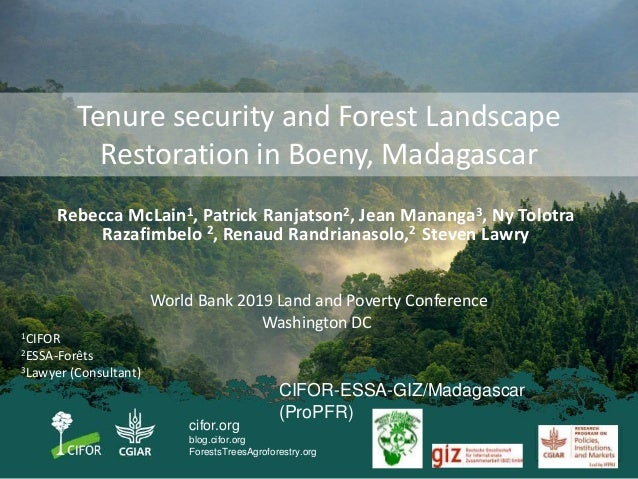 cifor.org blog.cifor.org ForestsTreesAgroforestry.org Tenure security and Forest Landscape Restoration in Boeny, Madagasca...