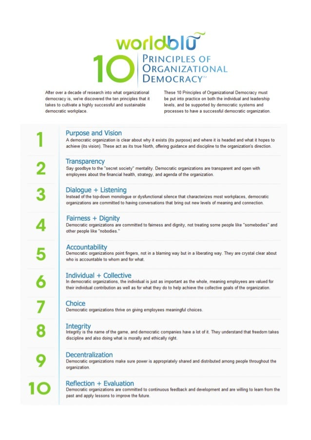 the important principles of democracy