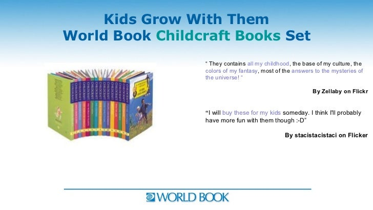 """Kids Grow With ThemWorld Book Childcraft Books Set                 """" They contains all my childhood, the base of my cultur..."""