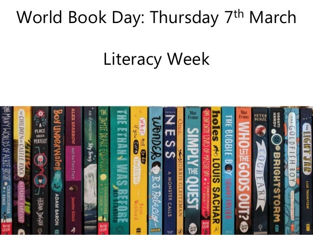 World Book Day: Thursday 7th March Literacy Week