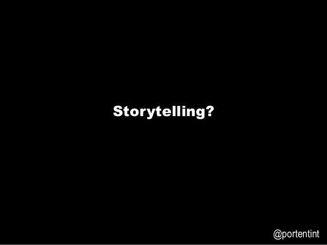 3E6699   @portentint Storytelling?