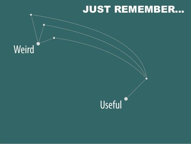 Weird Useful JUST REMEMBER…